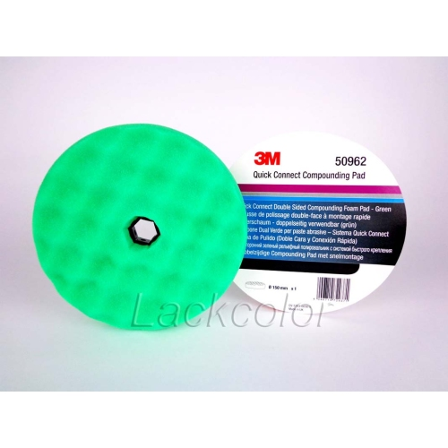3M 50962 Quick Connecnt Polierschwamm,doppelseitig grün genoppt, Ø 150 mm, 1 St.