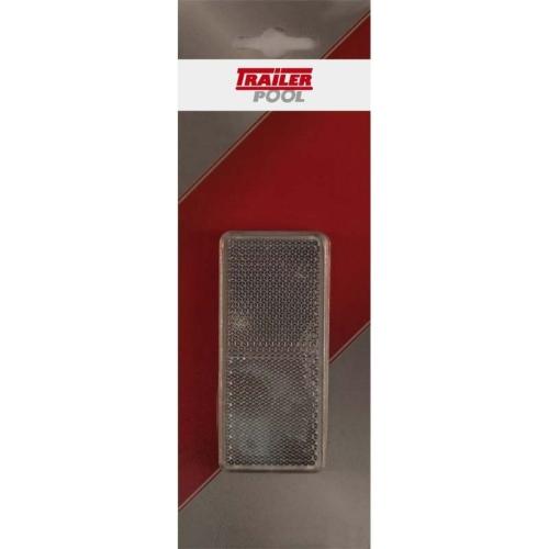 FRIELITZ 014000416-VP 2er-Set Rückstrahler, weiß, rechteckig, 90x40mm zum Kleben