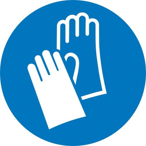 """SIGN SAFETY 11.0496 Gebotsschild """"Handschutz benutzen"""", Aluminium, Ø 20 cm"""