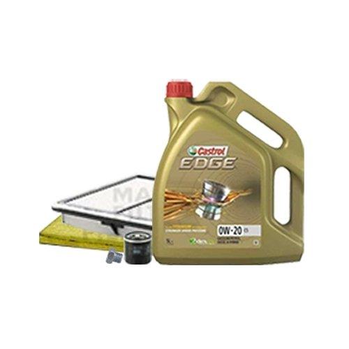 Inspektionskit Ölfilter, Luftfilter und Innenraumfilter + Motoröl 0W-20 C5 5L
