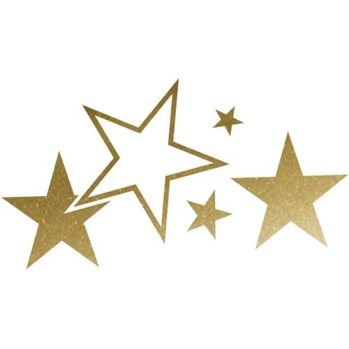 Foliatec CAR DESIGN STICKER Stars 33920 gold