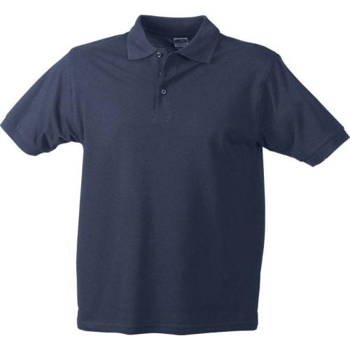 JAMES & NICHOLSON JN070 men's polo shirt, navy, size M