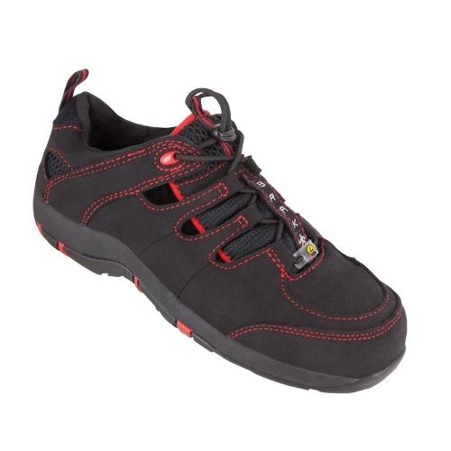 Baak 32112 Safety sandal S1 Sue black / red Gr. 37