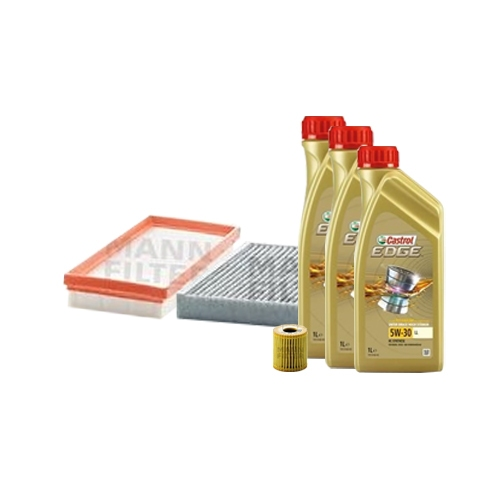 Inspektionskit Ölfilter, Luftfilter und Innenraumfilter + Motoröl 5W-30 LL 3L