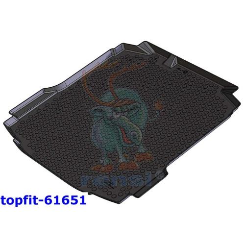 RENSI 61651 Kofferraumschalenmatte Gewicht 1700 g