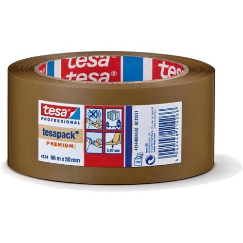 tesa 04124-00015-00 Packband 4124, 50mm x 66m, braun