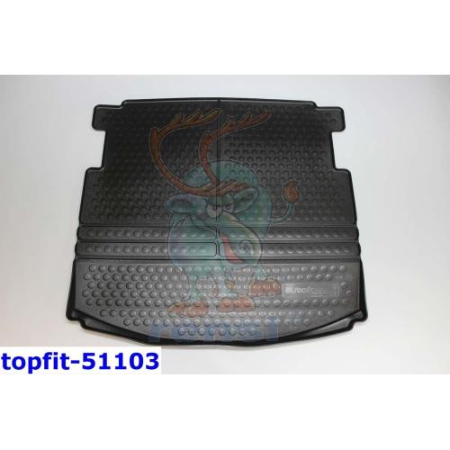 RENSI 51103 Kofferraumschalenmatte 7-Sitzer variabel/Variabel 5,6,7 Sitzer 1300 g