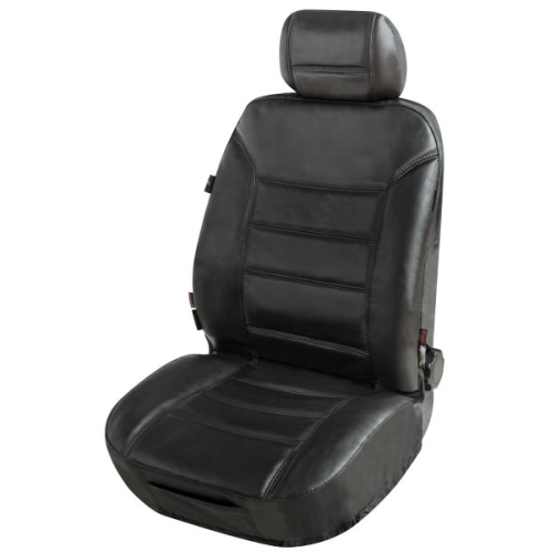 Car seat cover Billy made of genuine leather black ZIPP-IT