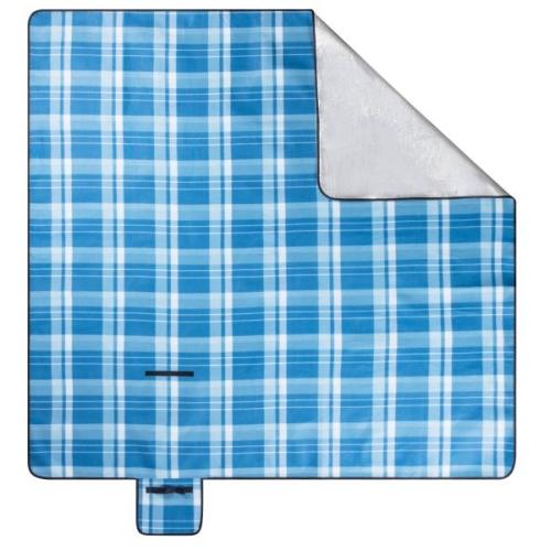 WALSER Reisedecke mit Alu Rückseite blau/weiß karo 200x200cm Art.Nr.: 13643