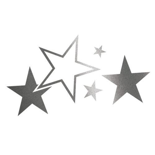 Foliatec CAR DESIGN STICKER STARS 33921 graphit