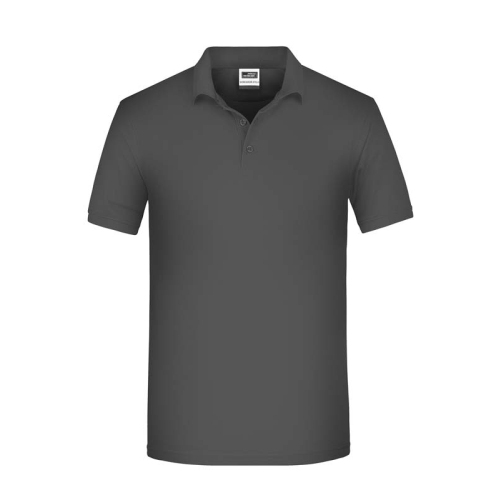 JAMES & NICHOLSON JN874 men's organic polo t-shirt, carbon, size XL