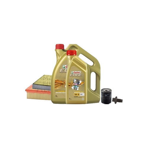 Inspektionskit Ölfilter, Luftfilter und Innenraumfilter + Motoröl 6l 5W-30