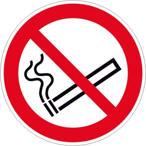 "SIGN SAFETY 210.A6015 ""No smoking"" sign, foil, Ø 20 cm"