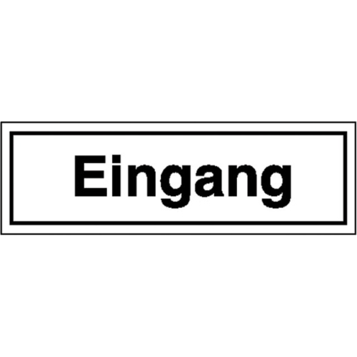 """SIGN SAFETY 21.5356 Sign """"entrance"""", foil, 25cm x 7cm"""