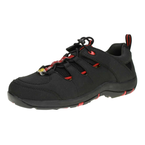 Baak 32112 Safety sandal S1 Sue black / red Gr. 32