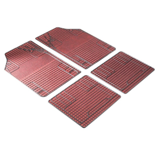 Rubber mats New Style red black, can be cut to size