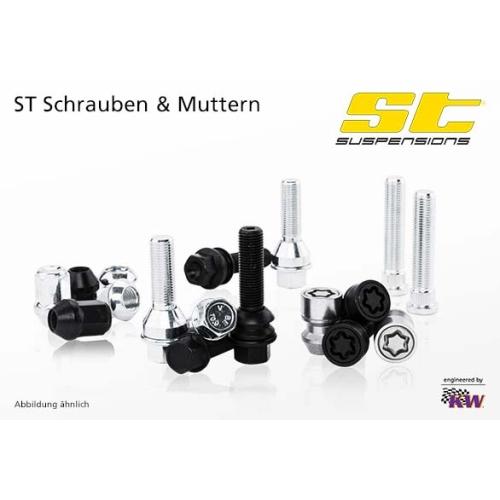 ST SUPSENSIONS 56110481 Radschraube M14x1,25x48mm KE60° schwarz, 10 Stück