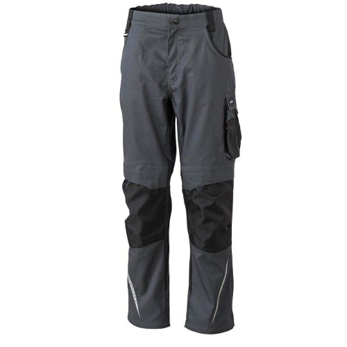 JAMES & NICHOLSON JN832 work trousers, carbon / black, size 52