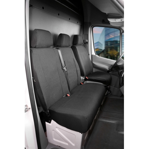 Seat covers for Ford Transit synthetic leather single seat and double bench, front