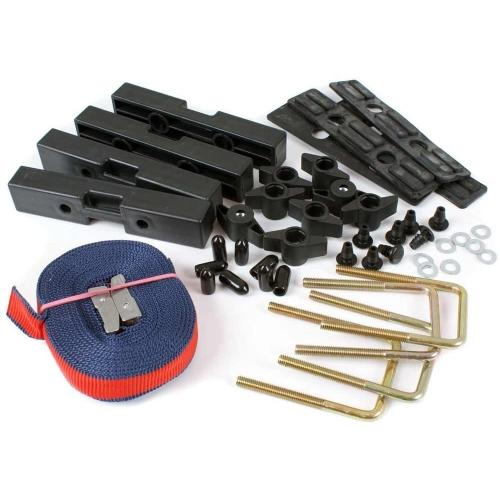 KAMEI 0 52697 10 Montagesatz für Dachboxen, 90 mm, U-Bügel, Schiebe-Befestigung