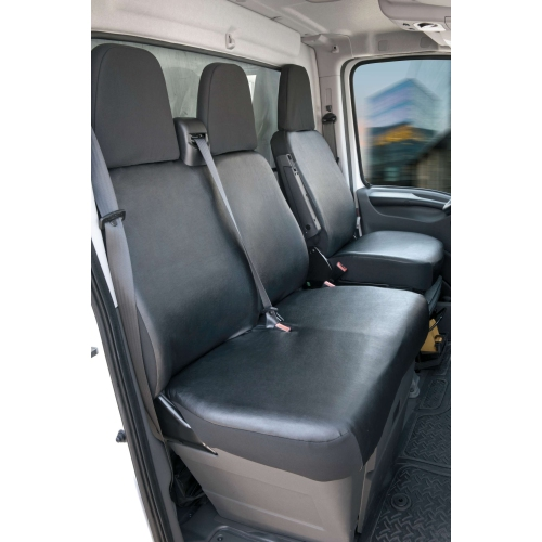 Seat covers Peugeot Boxer single seat and double bench, front