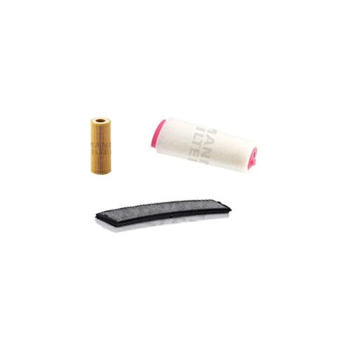 MANN-FILTER Filter Satz, Öl, Luft- und Innenraum- Aktivkohle Filter VSF0014MAN