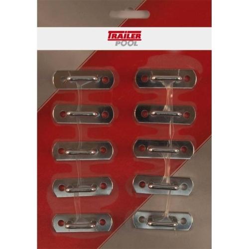 FRIELITZ 020010101-VP bracket staple, height 15 mm, hole spacing 34 mm, set of 10
