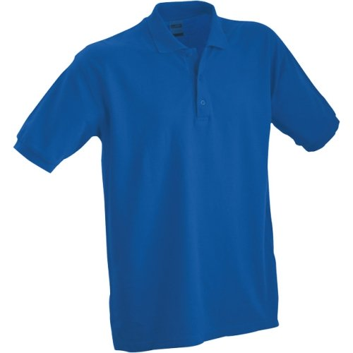 JAMES & NICHOLSON JN070 men's polo shirt, blue, size L