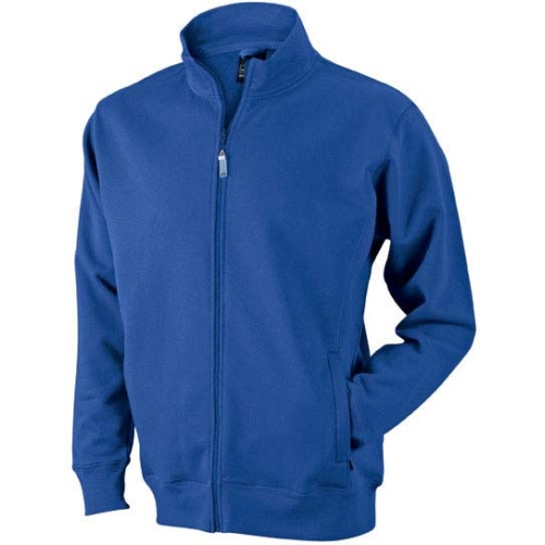 JAMES & NICHOLSON JN046 men's sweat jacket, blue, size L