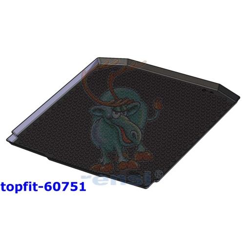 RENSI 60751 Kofferraumschalenmatte ohne erhöhten Ladeboten Gewicht 1400 g