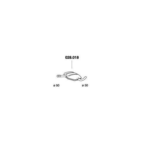 PEDOL 028.018 center silencer