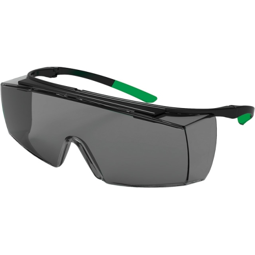 Uvex goggles 9169.543 super f OTG, Lens PC gray, black / green, protection 3