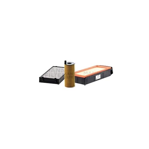 MANN-FILTER Filter Satz, Öl-,Luft und Innenraum Aktivkohle-Filter VSF0087MAN