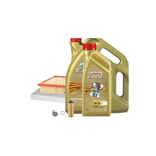 Inspektionskit Ölfilter, Luftfilter + Ablasschraube und Motoröl 5W-30 M 6L