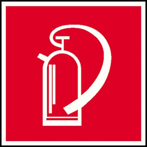 "SIGN SAFETY 15.2703 ""Fire extinguisher"" sign, aluminum, 15cm x 15 cm"