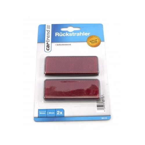 Cartrend reflectors rectangular red 80119