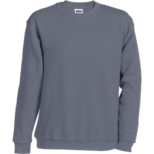 JAMES & NICHOLSON JN040 sweatshirt, round neck pullover, carbon, size XXL