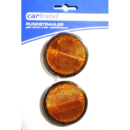 Cartrend reflector / reflector, round, yellow 80136