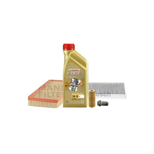 Inspektionskit Ölfilter, Luftfilter und Innenraumfilter + Motoröl 6l 5W-30 LL