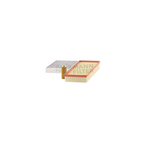 MANN-FILTER Filter Satz, Öl-,Luft und Innenraum Aktivkohle-Filter VSF0206MAN