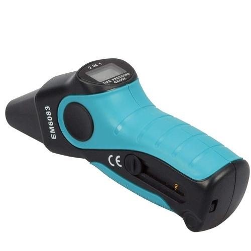 Cartrend 50204 digitaler Luftdruckprüfer mit Profiltiefenmesser