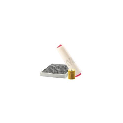 MANN-FILTER Filter Satz, Öl-,Luft und Innenraum Aktivkohle-Filter VSF0186MAN