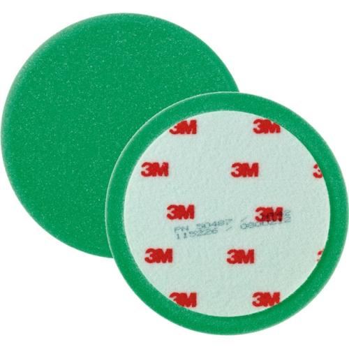 3M 50487 Perfect-It III Polierschaum glatt, Ø 150 mm , grün, 1 Satz (2 Stück)