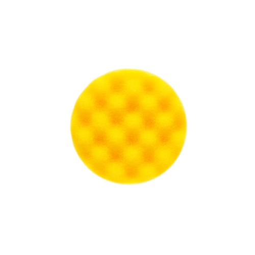 MIRKA Schaumstoffpad 85mm gelb gewaffelt, 2/Pack