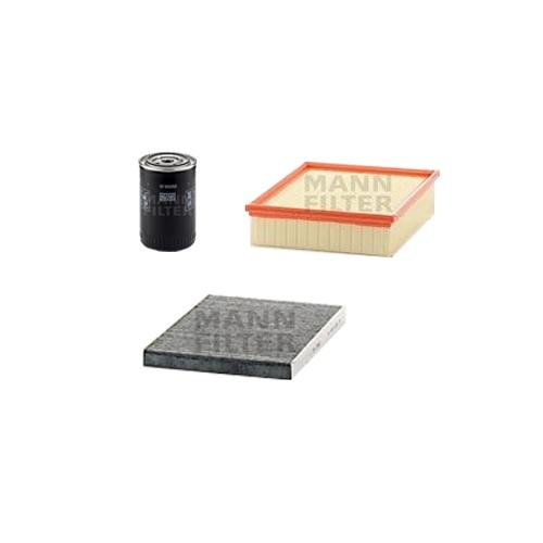 MANN-FILTER Filter Satz, Öl, Luft- und Innenraum- Aktivkohle Filter VSF0011MAN
