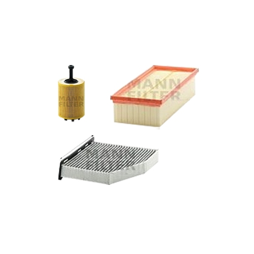 MANN-FILTER Filter Satz, Öl, Luft- und Innenraum- Aktivkohle Filter VSF0002MAN