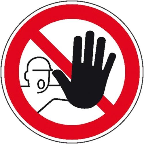 """SIGN SAFETY 21.0833 Verbotsschild """"Zutritt für Unbefugte verboten"""", Folie, Ø20cm"""