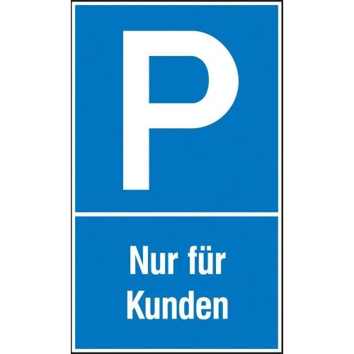 """SIGN SAFETY 41.5126 Parkplatzschild """"Nur für Kunden"""", 25cm x 40cm, Kunststoff"""