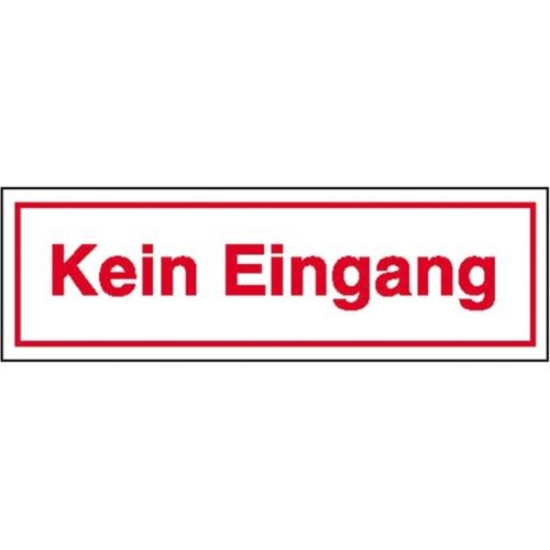 """SIGN SAFETY 21.5360 Hinweisschild """"Kein Eingang"""", Folie, 25cm x 7cm"""