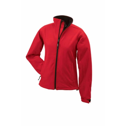 JAMES & NICHOLSON JN137 women's softshell jacket, transition jacket, red, size S
